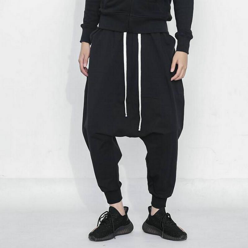 2019 Darkly Style Streetwear Baggy Pants Men Hip Hop Jogger Pants Male Sweatpants Cotton Drawstring Casual Harem Trousers Men