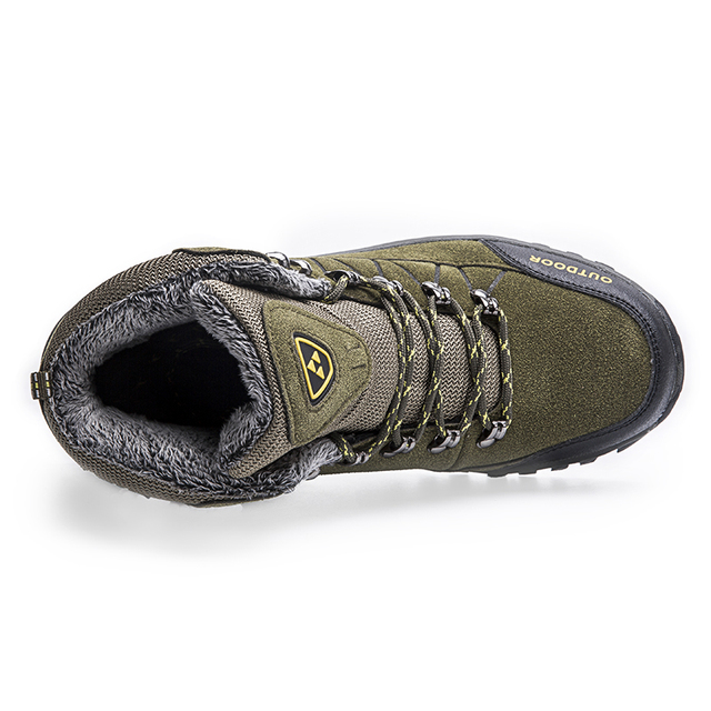 Super Warm Men Winter Boots Suede Leather Men Boots Fur Plush Snow Boots waterproof Winter Shoes For Men Outdoor Boots Shoes 5
