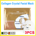 Free Ship 3PCS Ant-aging Collagen Crystal Facial Mask Whitening+Moisturizing+Pore Minimizing+Collagen Face Skin Care Mask