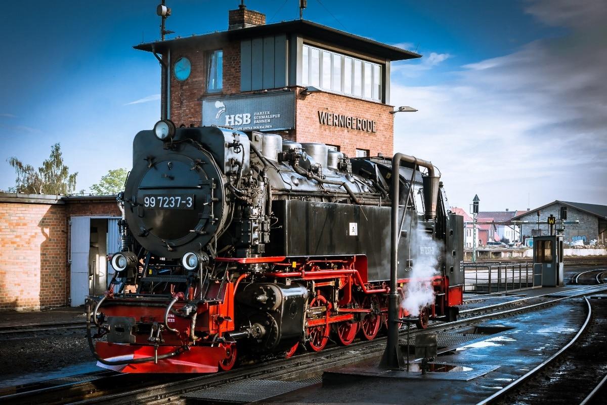 Retro Art Woonkamer : Stoomlocomotief op railway retro trein kc woonkamer thuis
