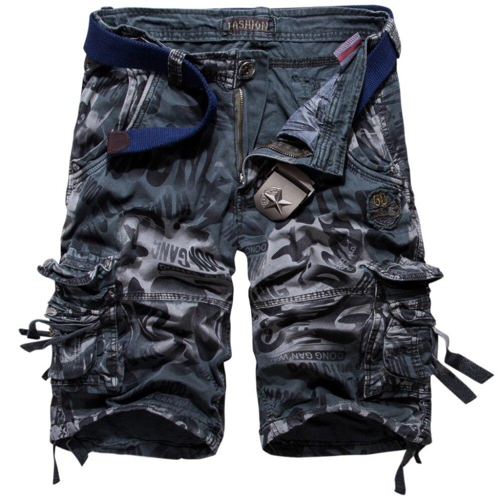 Модные камуфляжные шорты-карго Для мужчин новый Рубашки домашние мужские летние свободные работа шорты человек военный Короткие штаны плю...