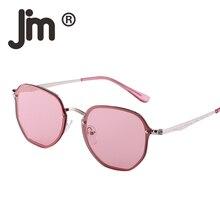 JM Wholesale 10pcs/Lot Bulk Sale Mirror Rimless Small Clear Polygon Metal Flat Sunglasses Women Men Eyeglasses Retro