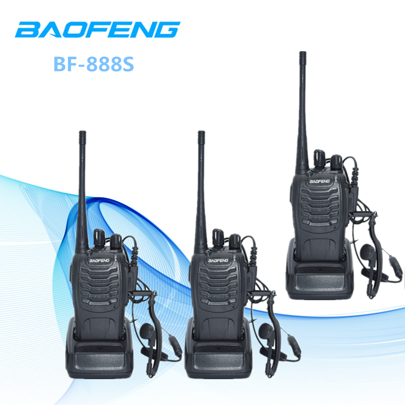 3 piezas Baofeng BF-888S de dos vías Radio BF 888 s 6 km Walkie Talkie 5 W Radio CB portátil handheld HF transceptor Interphone BF888S