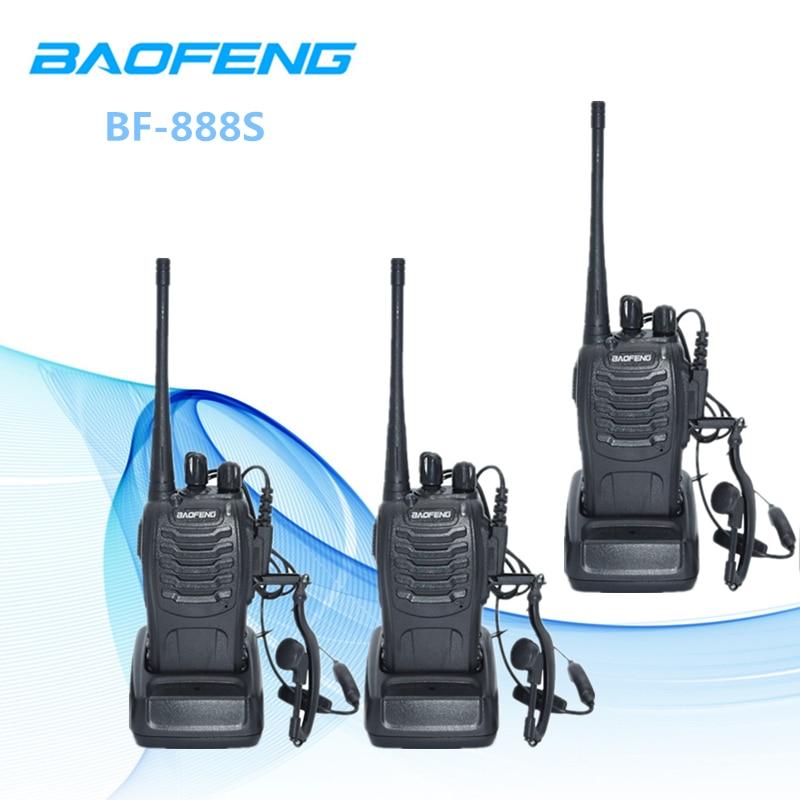 3 pz Baofeng BF-888S Two-Way Radio BF 888 s 6 km Walkie Talkie 5 w Portatile CB Radio palmare HF Ricetrasmettitore Interfono BF888S