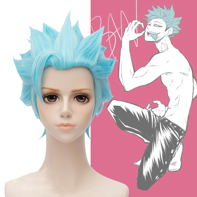 The Seven Deadly Sins Ban Wigs Fox's Sin of Greed Heat Resistant Short Synthetic Hair Perucas Cosplay Wig