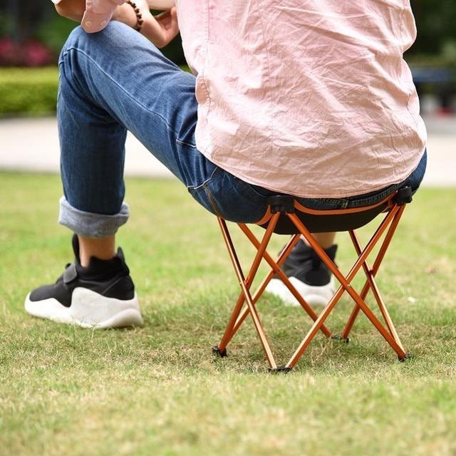 Mini Aluminium Alloy Camping Hiking Foldable Chair Folding Fishing Picnic  BBQ Garden Chair Seat Four Corners