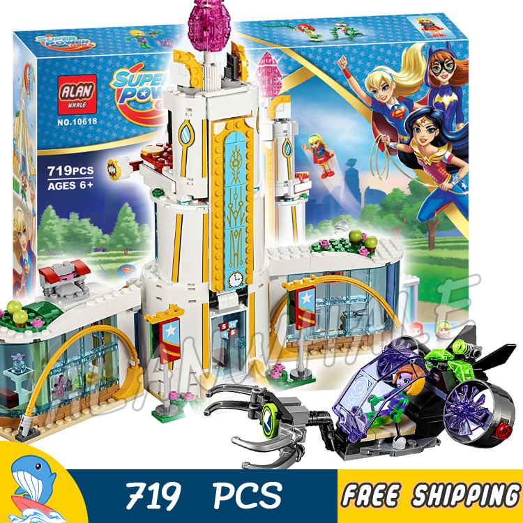 719pcs DC Girls Super Heroes High School 10618 Model Building Blocks Assemble Bricks Children Toys Movie Compatible With Lego 788pcs super heroes batman movie killer croc sewer smash bat tank 07037 model building blocks toys bricks compatible with lego