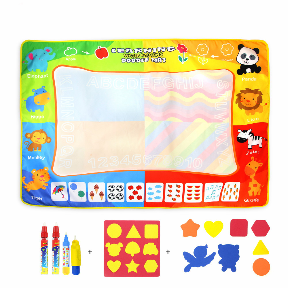 Baby Drawing Toys Magic Water Drawing Doodle Mat Coloring Book Drawing Board For Kids Painting Toy Children Birthday Gifts