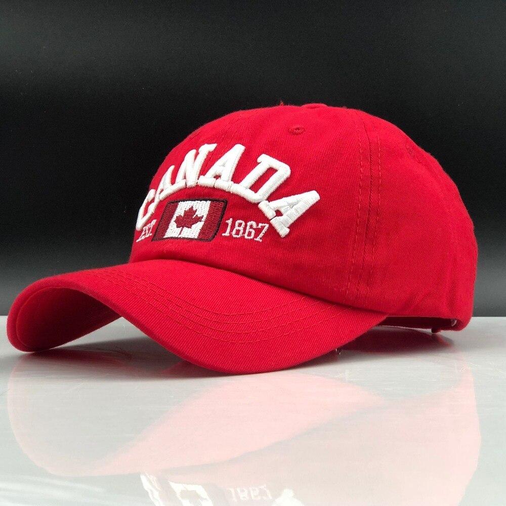 jiangxihuitian 2019 Hot simple Canada Letter Embroidery   Baseball     Caps   Snapback hat for Men Women Leisure Hat   cap   wholesale