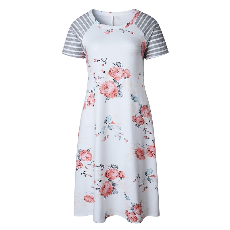 Women's floral print casual dress 5