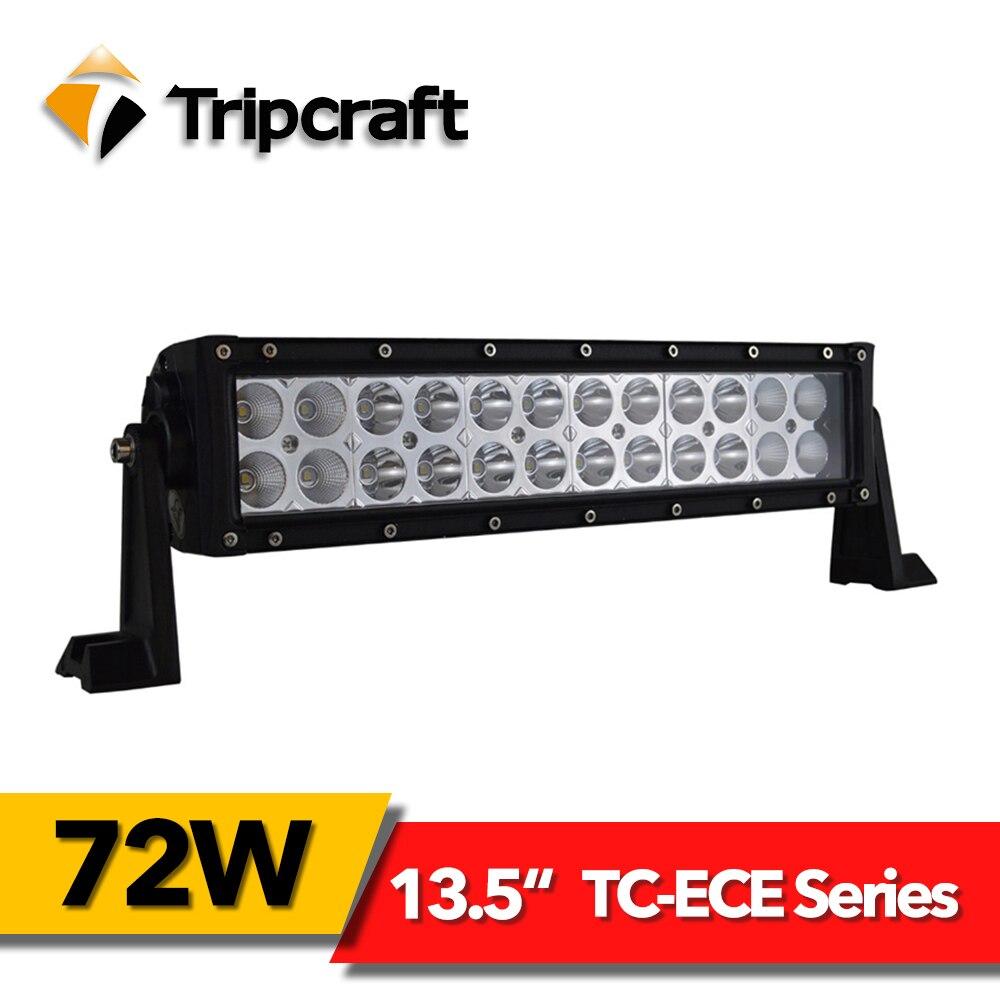 TRIPCRAFT 13,5 72 Вт светодиодный свет работы бар для Off road Грузовик 4x4 внедорожник автомобиля 4WD rampe epistar пятно балки авто для вождения противотуман...