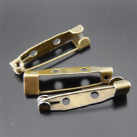100pcs Antiqued Bronze Retro Creative rectangular Shape Brooch Jewelry Accessories Jewelry Finds 25*6*5mm Wholesale 34476