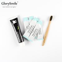 GlorySmile 5 Sachets Virgin Coconut Oil Pulling Mouthwash Bamboo Charcoal Toothpaste Bamboo Toothbrush Kit For Teeth