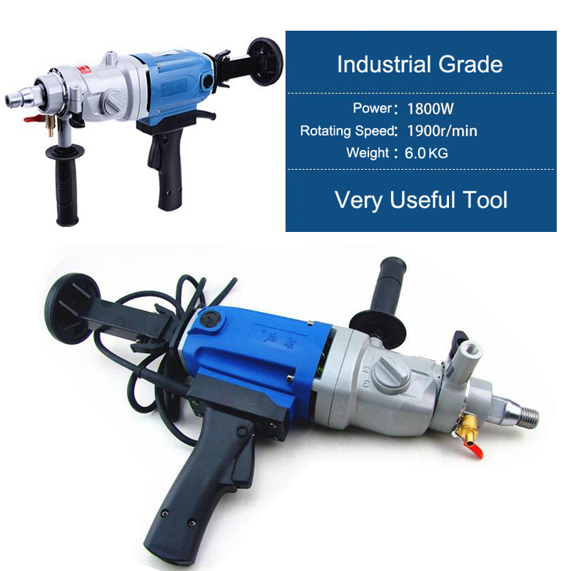 цена на Electric Drill 190mm Diamond Drill With Water Source(hand-held) 1800W Concrete Core Drill 3 Speed Diamond Core Drill 190mm