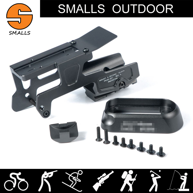 tactical hunting gun accessories ALG 6-Second Mount for Glock 17 and 18C Pistols with magwell flared for 20mm picatinny rail aimtis x300 series x300v ir flashlight tactical led night vision weapon light glock 17 18 18c pistol armas fit 20mm rail