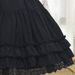 Image 4 - Sweet Lolita Chiffon Onder Rok Korte A lijn Cosplay Petticoat met Gelaagde Ruches