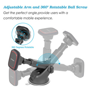 Image 3 - Yianerm Magnetic Car Phone Mount Holder For iPhone Xs Max Dashboard Suction Cup Holder with Telescopic Arm in Car For Samsung S9