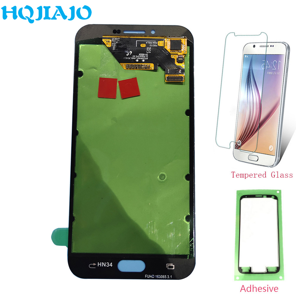 Super AMOLED LCD Screen For Samsung A810 Touch Screen Digitizer + LCD Display For Samsung Galaxy A8 2016 A8100 A810 Assembly LCD image