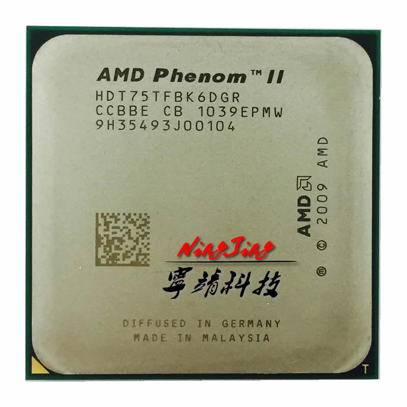 AMD Phenom II X6 1075T 1075 CPU HDT75TFBK6DGR AM3 938pin 125W 3 0GHz E0 Socket AM3