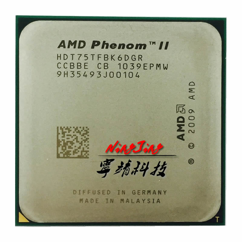 AMD Phenom II X6 1075T 1075 CPU/HDT75TFBK6DGR/AM3/938pin/125 Вт/3,0 ГГц/E0 Socket AM3