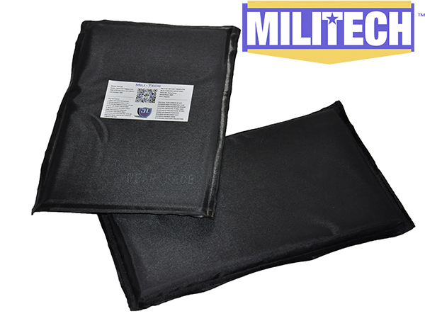 MILITECH 6'' x 10'' Pair Aramid Ballistic Panel Bullet Proof Plate Inserts Body Armor Cummerbund Side Panel NIJ Level IIIA 3A