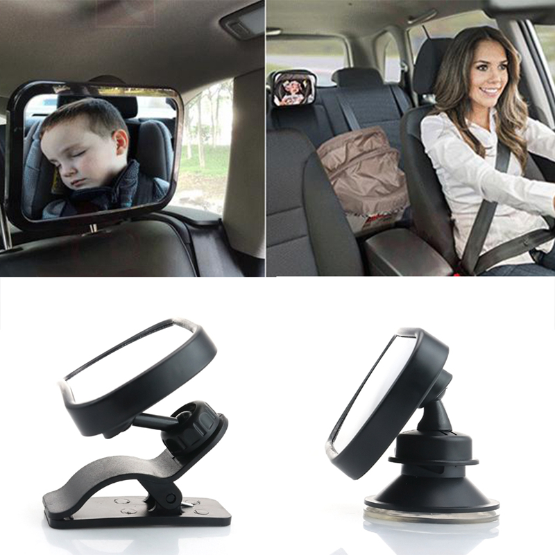 Baby Safety Seat Rearview Mirror Car Baby Child Kids Rear View Mirror Safety Reverse Safety Seats Mirror With Clip and Sucker