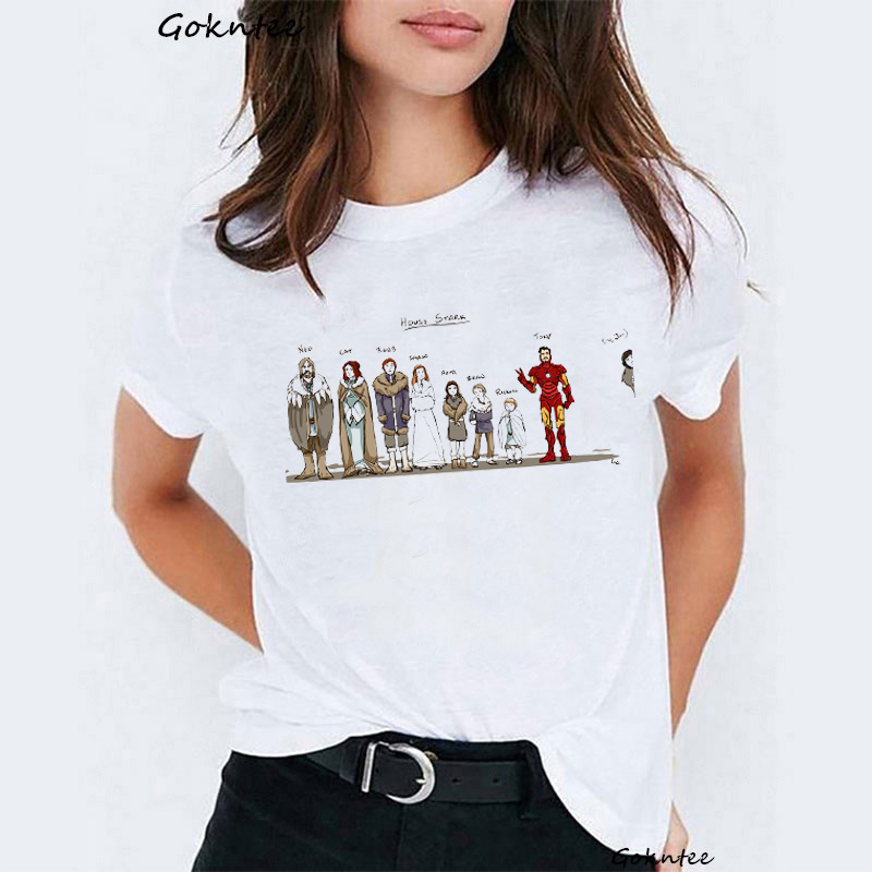 Game of Thrones Stark Family Members Women   t     shirt   House Stark vintage Dracarys   t  -  shirt   not today harajuku summer tops camiseta