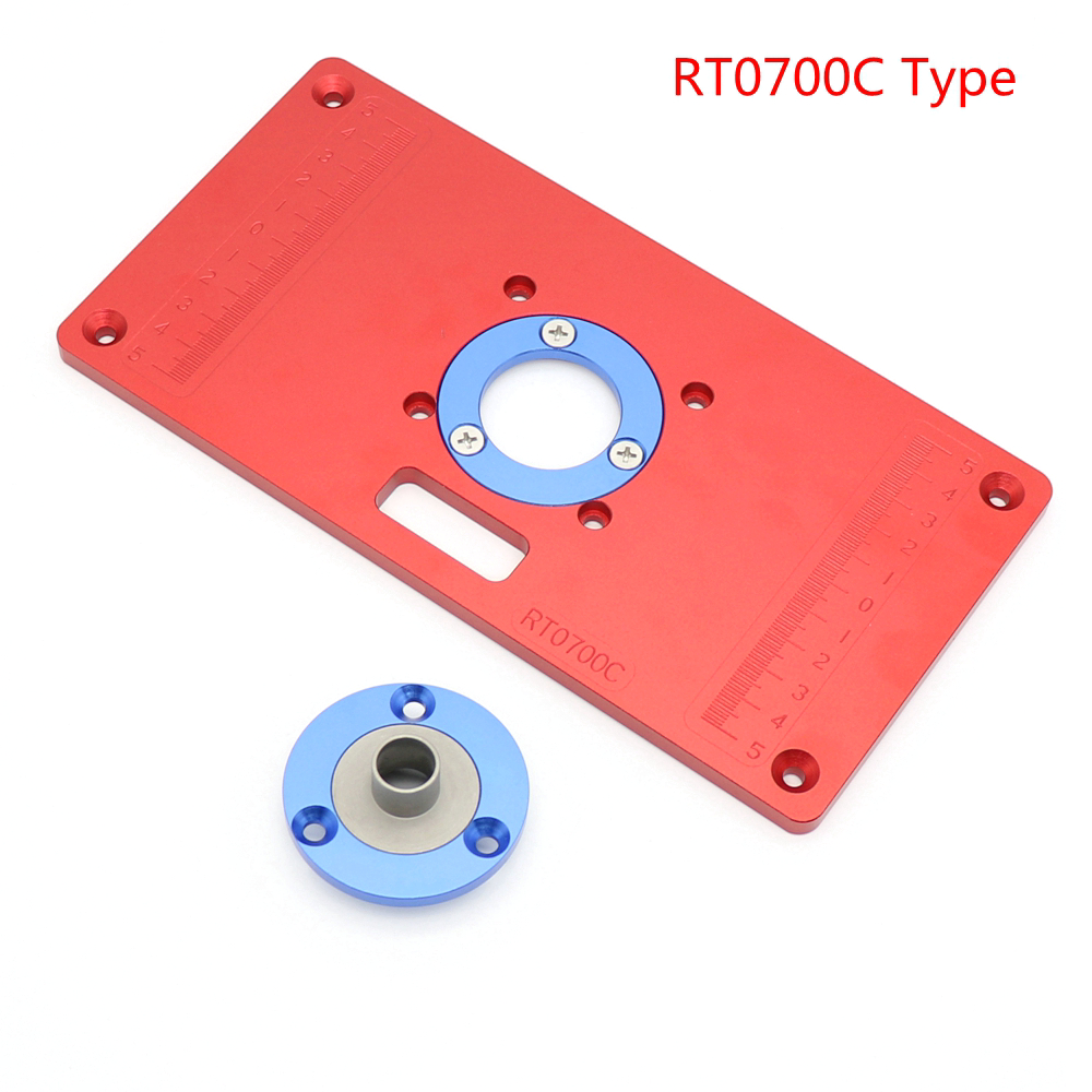 Aluminum Router Table Insert Plate for Woodworking Bench Tools Wood Router Table in Tool Parts from Tools