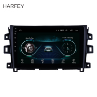 Harfey 10.1 inch Android 8.1 Radio GPS Navigation Bluetooth Touchscreen Stereo for Nissan Navara 2011 2016 with Music AUX WIFI
