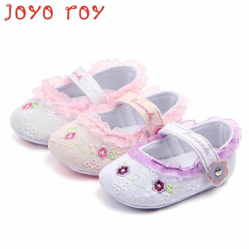 Joyo roy floral princesa bebé niño Zapatos blanco antideslizante ...
