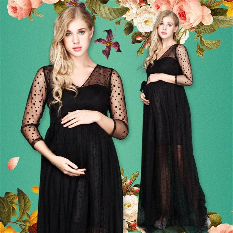 Long Dress Pregnant Women Sexy Photography Props Dress Photo Shoot Dresses Pregnant Women Off Shoulders Summer Dress RQ128 все цены