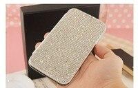 Dower Mi Luksusowe Moda Bling Rhinestone Pełna Diament Portfel Klapki Skóra Telefon skrzynki Pokrywa Dla iPhone X 8 7 6 6 S Plus 5 5S SE