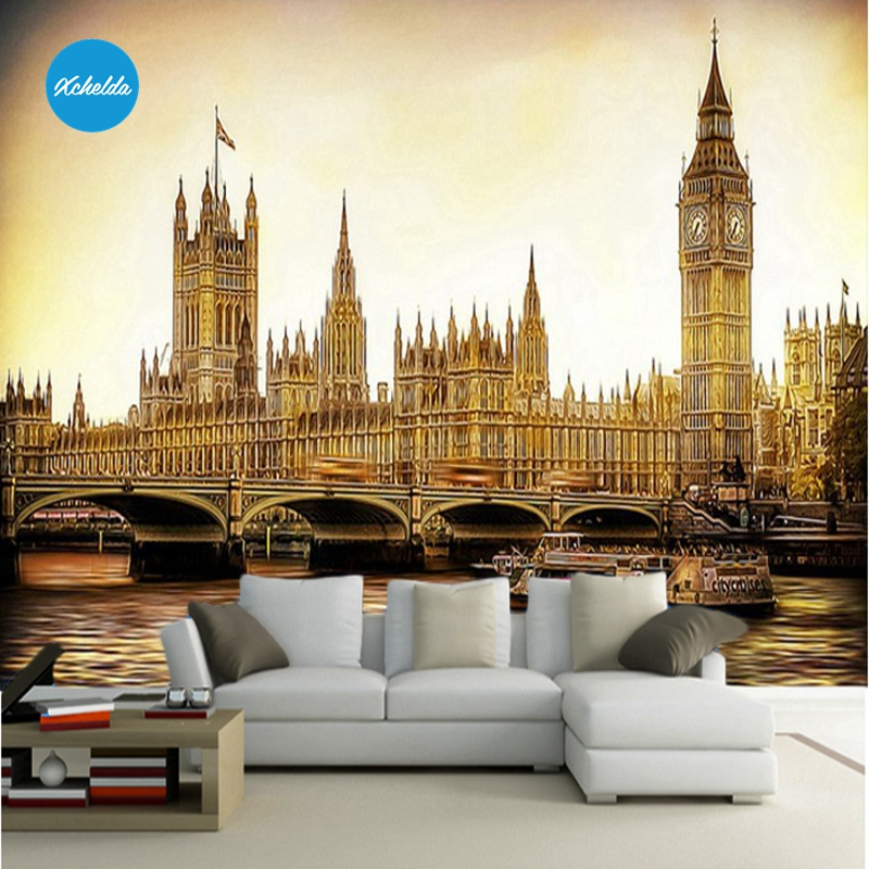 XCHELDA Custom 3D Wallpaper Design London City Photo Kitchen Bedroom Living Room Wall Murals Papel De Parede Para Quarto kalameng custom 3d wallpaper design street flower photo kitchen bedroom living room wall murals papel de parede para quarto