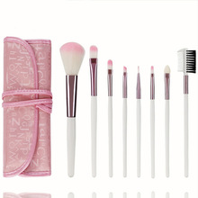7Pcs Makeup Brushes Set Powder Brushes Cosmetics Kit High Quality Soft Synthetic Hair Beauty Make Up Brush with Bag 7pcs makeup brushes set with striped bag