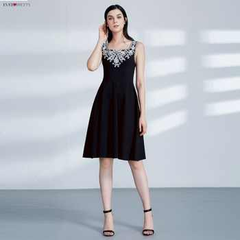 Ever Pretty AS04056 Cut-out Elegant Black Coctial Dresses A Line Scoop Neckline Sleeveless Embroidery Short Evening Dress - DISCOUNT ITEM  50% OFF Weddings & Events