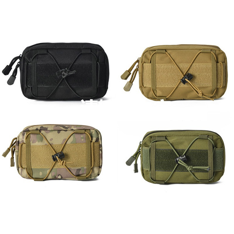 New 1 piece Airsoft Molle Belt Tactical Cellphone Waist Bag EDC Tools First Aid Pouch 4 colors available airsoftpeak military tactical waist hunting bags 1000d outdoor multifunctional edc molle bag durable belt pouch magazine pocket