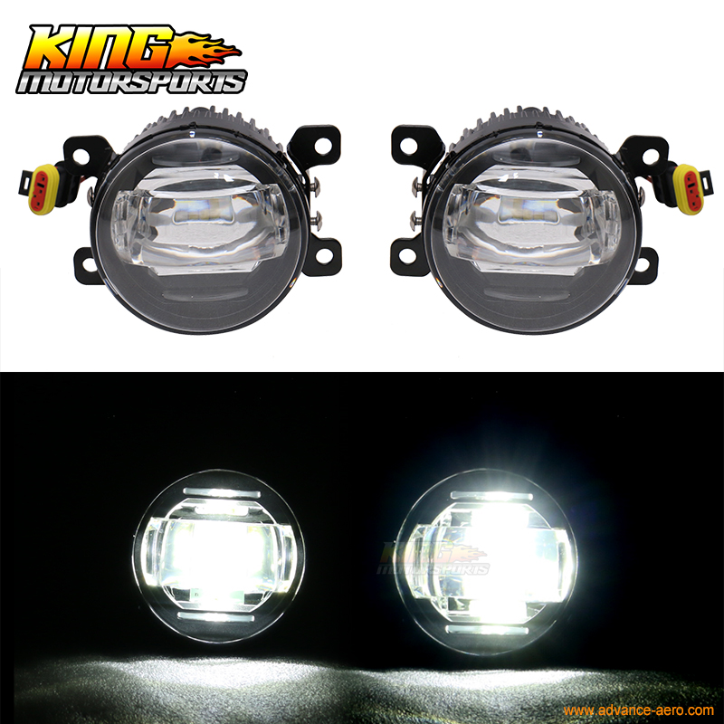 Fit For Ford Lincoln Front LED Fog Light Lamp LH RH Pair ABS Black Housing Clear Lens standing in for lincoln green