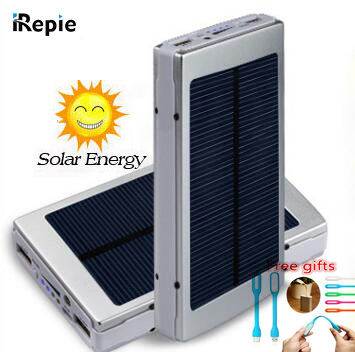 IREPI Portable 14000mAh Solar Power Bank Universal LED 10000mah Sun Charger External Battery for iphone samsung xiaomi powerbank