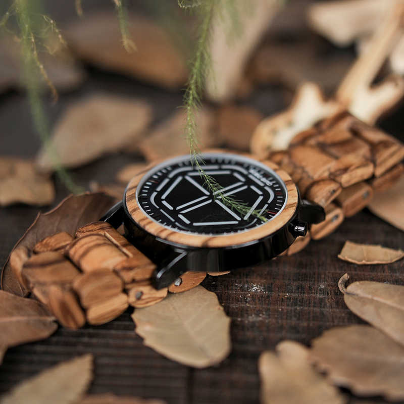0a5fb15cf ... 4 Colors BOBO BIRD Unique Mens Wooden Watches LED Digital Wristwatches  With Wood Link saat erkek ...