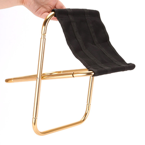 Image 1 - חיצוני כיסא נייד מתקפל שרפרף 7075 אל כיסאות 300 גרם יד כיסא קמפינג ריהוט אפור זהב שרפרף 80 kg כיסא עם תיק