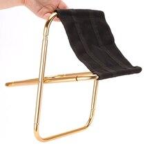 Chaise dextérieur tabouret pliant Portable 7075 Al chaises 300G chaise de Camping meubles gris doré tabouret 80 kg chaise avec sac