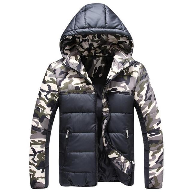 M-3XL!!! winter jacket men Men's fashion personality camouflage new cotton-padded jacket mens winter down jacket men jacket man
