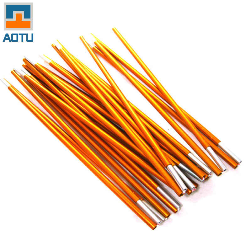 (2pcs/pair) Outdoor Tent Rod Alloy 8.5mm Camping Tent Pole Skelton 3.6m/4.m/4.4m tent support poles tent accessories