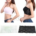 Sexy Lady Lace Stretch Boob Tube Top Women Girls Soft Strapless Bandeau Bra New Hot