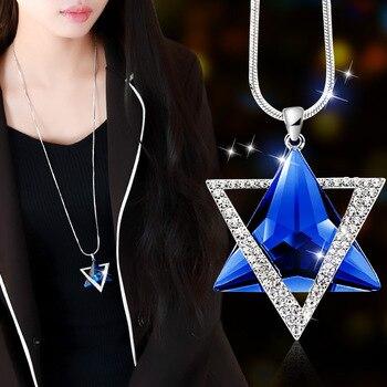 Magnifique collier de luxe sertie de strass Etoile de David  1
