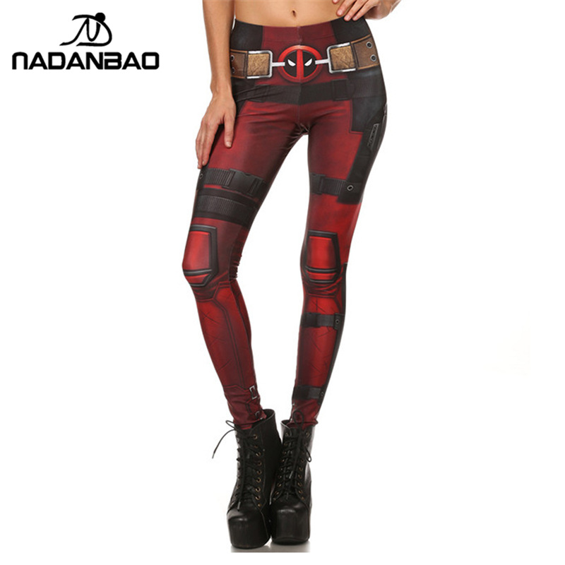 NADANBAO New Fashion Women leggings Super HERO Deadpool Leggins Printed legging for Woman pants