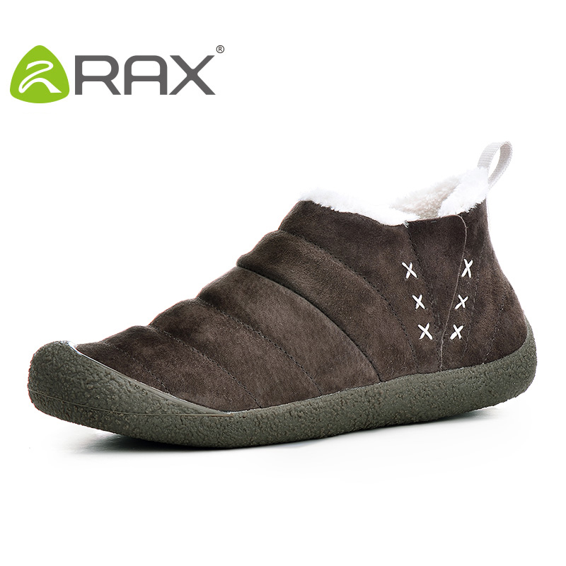 RAX Men Hiking shoes Waterproof Snow Boots Warm Winter Outdoor Trekking Boots Climbing Walking Shoes for Women sneakers 54-5N342 2017 new autumn winter trekking boots men size 38 45 climbing shoes fur warm hiking sneakers blue black men mountain boots