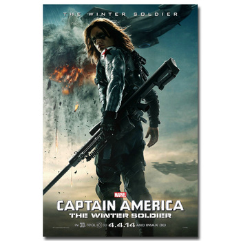 Плакат Гобелен Шелковый постер Капитан Америка 2 Другая война