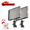 2pcs/lot Aputure Amaran AL-528S LED Video Studio Camera Photo Light Lamp Panel 528 LED Spotlight Spot Light + Gift Kit