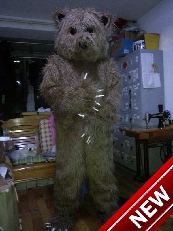 2018 جديد التميمة للبالغين عيد الميلاد هالوين الزي ملابس تنكرية البدلة شحن مجاني القهوة الدب البني الدب